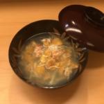 雲丹と毛蟹のお椀